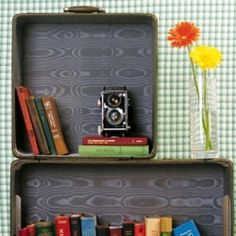 Check out these 14 ways to reuse a vintage suitcase.