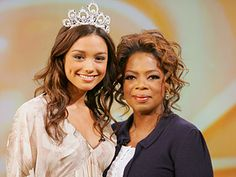 Rachel Smith was crowned Miss USA 2007.  She was previously Miss Tennessee USA and graduated from Belmont University in Nashville.  While she was at Belmont, she interned in Chicago, Illinois, for eight months with Harpo Productions, a company owned by Oprah Winfrey. In January 2007, it was announced that she had been chosen by Winfrey to volunteer for one month at her Leadership Academy for Girls in Africa.  During her reign as Miss USA, Smith was asked to appear on The Oprah Winfrey Show to talk about her experience as an intern.