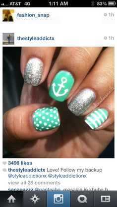 I would do only pok-a-dots and leave my ring finger silver