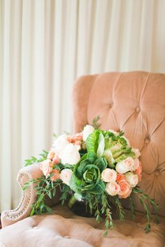 Soft pinks and greens