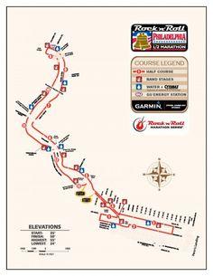 Route: Rock N' Roll half marathon in Philly.