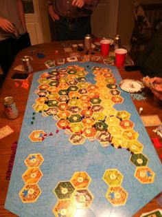 12 player Settlers of Catan - perfect for the veteran geeks (yup I would number myself there too)