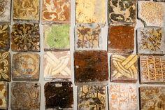 Medieval tiles - Exposition sur les pavements médiévaux, musée Saint-Loup de Troyes (Aube, France) | Flickr - Photo Sharing! floor tile, mediev tile, inlaid tile
