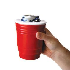 Beer koozie that looks like the iconic Red Solo Cup.