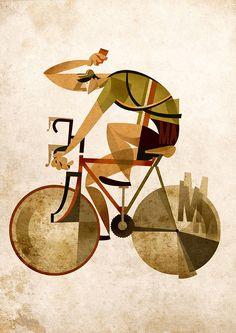 illustrations-vélo-italien-fixie par Riccardo Guasco