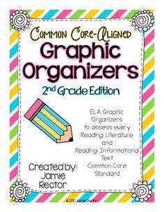 Common Core Standards ELA Graphic Organizers - NEW LOOK!