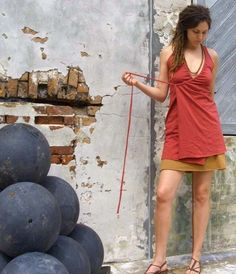 Drawstring Wrap Dress/Tunic (locally milled organic cotton knit)