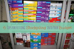 6 Tips for fitting stockpiling into your budget, even when money is tight. Via KosheronaBudget.com