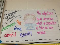 Fabulous in First- I like these anchor charts for Character Traits and Setting.