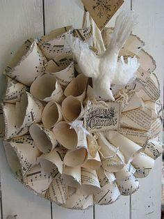 ~` music sheets . silver glitter . flocked bird `~