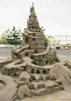 sandcastle sculpture