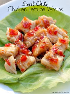 Sweet Chili Chicken Lettuce Wraps - Heathy Five Minute Meal #JustAddTyson #cbias