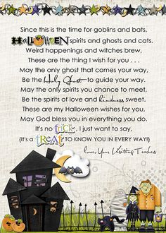 Halloween Visiting Teaching message. Love this!