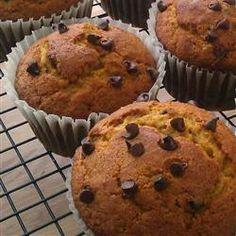 Pumpkin Chip Muffins Allrecipes.com