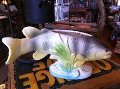 Vintage Ceramic Rainbow Trout Fish Planter by 225WaterStreet, $23.00. Oh hell yeah!