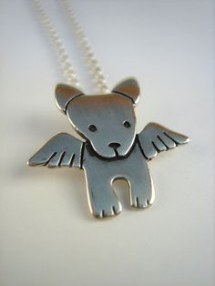 Angel Dog Necklace by marmar on Etsy, $32.00