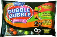Dubble Bubble's Halloween bubble gum pack is peanut-free.