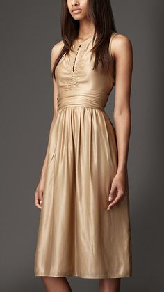 gold satin ~ burberry