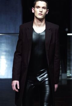Leather pants.