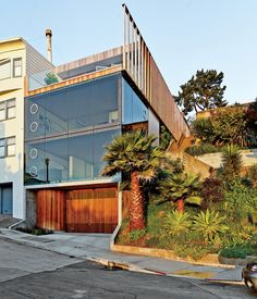 Striking Slatted Wood and Glass Home in San Francisco by architect Craig Steely