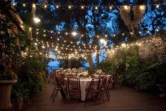 Cabana Blue back porch at night-House of Hydrangeas #cabanablue