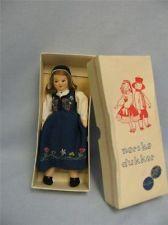 7.5 Box & Tagged RONNAUG PETTERSSEN c1950 Felt Doll NORDLAND All-Original