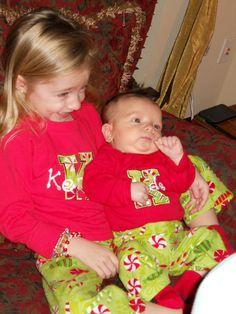 KIDS' CHRISTMAS PAJAMAS -- Custom Made for You -- For Siblings Too on Etsy, $28.00