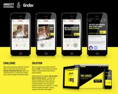 """You pick your partner. Many women aren't given a choice.""   Amnesty International Australia uses Tinder to raise awareness that women don't always have the choice to pick their partner.   Agency"" Circul8"
