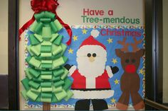 christmas bulletin board from hand-me-down ideas