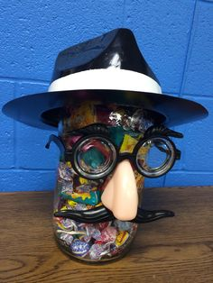 Mr. Spy Guy candy guessing jar for Agency d3 VBS!