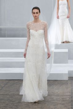 Sarah from Monique Lhuillier Spring 2015 Collection