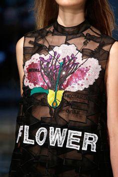 #flower #ChristopherKane #lfw #ss14 #runway #seethrough #sheer