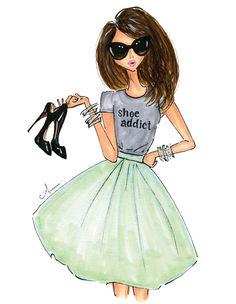 ILY Couture x Anum Tariq; Shoe Addict print