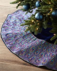 peacock tree skirt