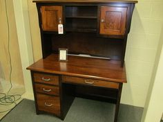 Creekside Student Desk with Hutch - eclectic - desks - columbus - Geitgey's Amish Country Furnishings