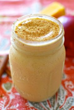 iced chai tea smoothie with mango