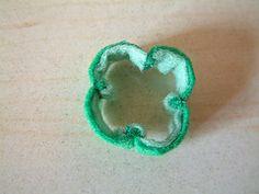 How to make felt green pepper rings for yourpizza