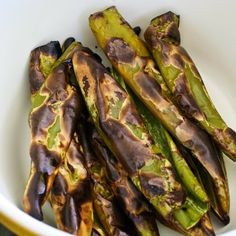 It's green chile season! This post shares How to Roast Anaheim Green Chiles (Hatch Chiles) on a Barbecue Grill and Recipes with Green Chiles. [from KalynsKitchen.com] #HatchChiles #RoastingChiles