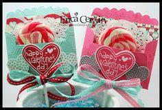 Pink Buckaroo Designs, Erica Cerwin Lollipop Valentine Scallop Envelope