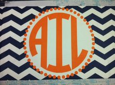 Personalized Monogrammed Beach Towel-DESIGN YOUR OWN Chevron Huge 30x60. $45.00, via Etsy.