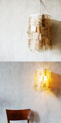 Sewing pattern lamp
