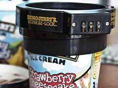 ice cream lock from Ben & Jerry's