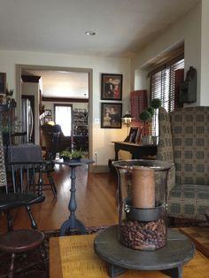 dining rooms, tabl accent, room center, tabl riser, gorgeous room, primit decor