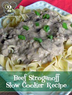 Beef Stroganoff Slow Cooker Recipe