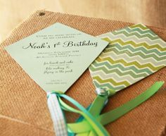 kite party, kite parti, birthday parties, party invitations, first birthdays, birthday party themes, kite invit, 1st birthdays, parti idea