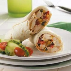 Italian Chicken Wraps Recipe