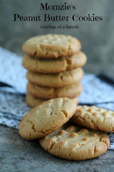 Mom's Peanut Butter Cookies   Cravings of a Lunatic   My mom used to make these for us after school. Still my favourite cookie ever!