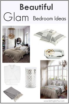 Makeover and Decorate your Bedroom with a touch of Glam!
