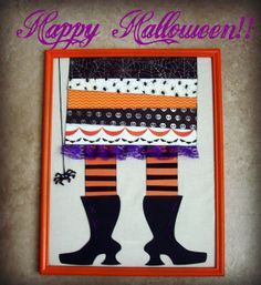 Summer Scraps: Witch's Feet Halloween Decor