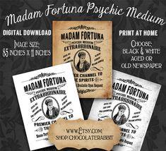 vintage posters, diy halloween, clip art, fortun tellergypsi, vintag cirqu, jake parti, halloween carniv